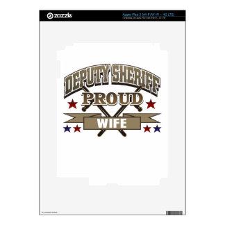 Deputy Sheriff Proud Wife iPad 3 Decal