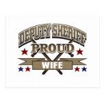 Deputy Sheriff Proud Wife Postcard