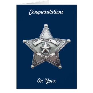 Deputy Sheriff Retirement Card