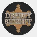 Deputy Sheriff Round Sticker