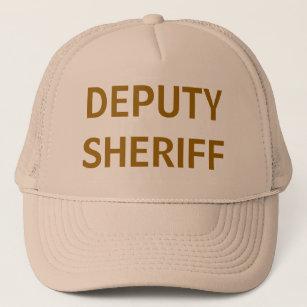 021db152 Deputy Sheriff tan mesh trucker hat