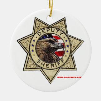 Deputy_Sheriff_Texturized Ceramic Ornament
