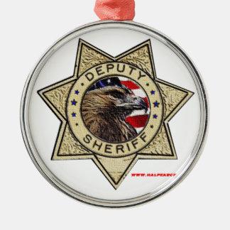 Deputy_Sheriff_Texturized Metal Ornament