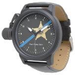 Deputy Sheriff Thin Blue Line Watch at Zazzle