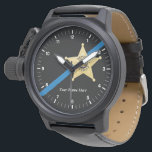"Deputy Sheriff Thin Blue Line Watch<br><div class=""desc"">Deputy Sheriff 5 point star Thin Blue Line Watch</div>"