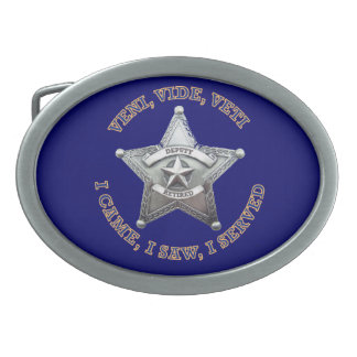 Deputy Sheriff's Badge Logo Oval Belt Buckle