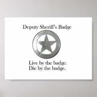 Deputy Sheriff's Badge Poster