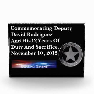 Deputy Sheriff's Customizable Acrylic Duty Award