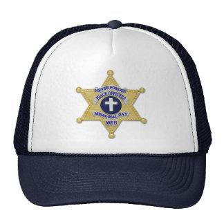 Deputy Star Badge Cross - Thin Blue Line Trucker Hats