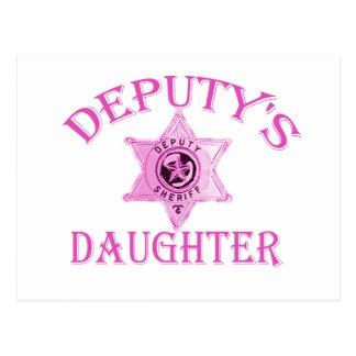 Deputy's Daughter Postcard