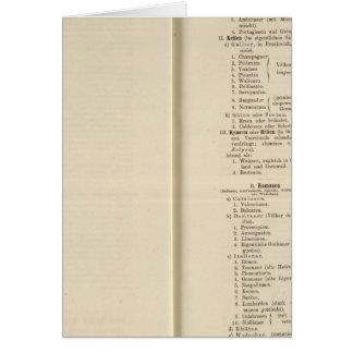 Der 1213 de Tafel de la introducción Karte XII Tarjeta De Felicitación