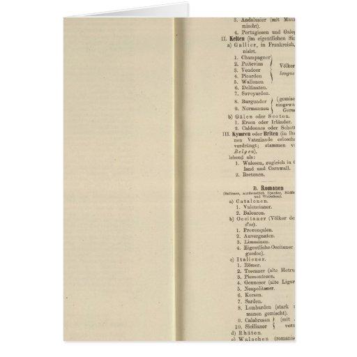 Der 1213 de Tafel de la introducción Karte XII Felicitaciones