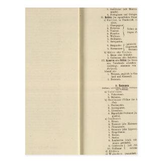 Der 1213 de Tafel de la introducción Karte XII Postal