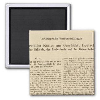 Der 1415 de Tafel de la introducción Karte XII Imán Cuadrado
