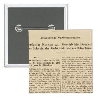 Der 1415 de Tafel de la introducción Karte XII Pin Cuadrada 5 Cm