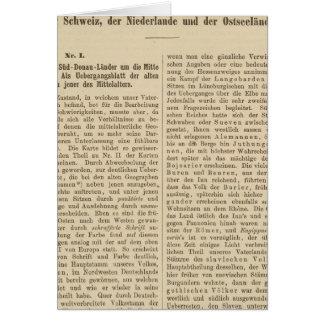 Der 1415 de Tafel de la introducción Karte XII Tarjeta De Felicitación