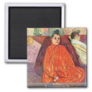 Der Diwan By Toulouse-Lautrec Henri De Fridge Magnets