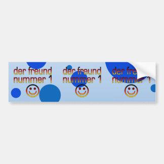 Der Freund Nummer 1 in German Flag Colors for Boys Car Bumper Sticker