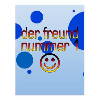 Der Freund Nummer 1 in German Flag Colors for Boys Postcard