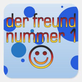 Der Freund Nummer 1 in German Flag Colors for Boys Square Sticker