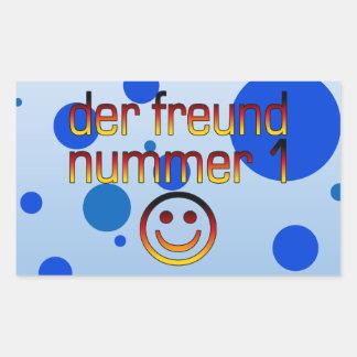 Der Freund Nummer 1 in German Flag Colors for Boys Rectangular Sticker