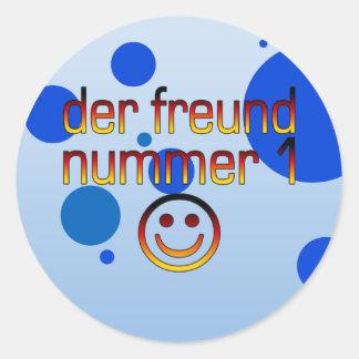 Der Freund Nummer 1 in German Flag Colors for Boys Classic Round Sticker