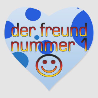 Der Freund Nummer 1 in German Flag Colors for Boys Heart Sticker
