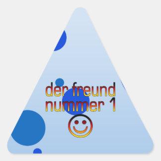 Der Freund Nummer 1 in German Flag Colors for Boys Triangle Sticker
