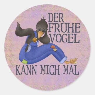 Der Frühe Vogel Classic Round Sticker
