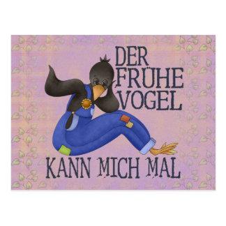 Der Frühe Vogel Postcard