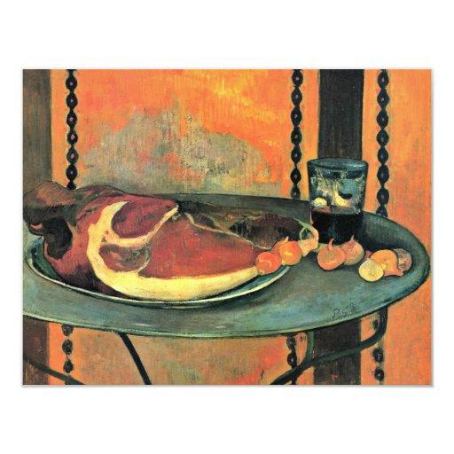 Der Ham By Gauguin Paul (Best Quality) 4.25x5.5 Paper Invitation Card