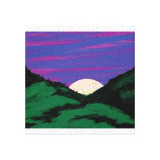 Der Hills Canvas Print