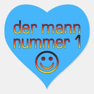 Der Mann Nummer 1 - Number 1 Husband in German Heart Sticker