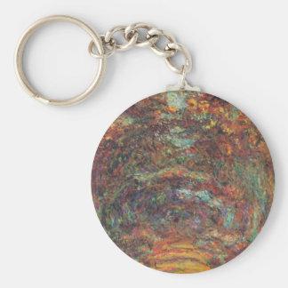 Der Rosenweg in Giverny Keychain