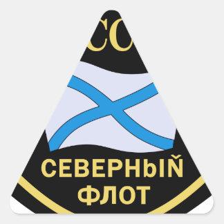 Der Russischen Nordmeerflotte, Aufnaher de Pegatina Triangular