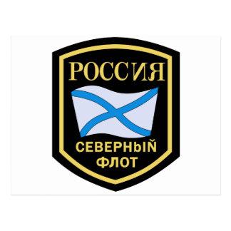 Der Russischen Nordmeerflotte, Aufnaher de Tarjeta Postal