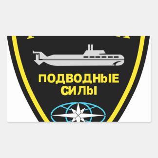 der Russischen U-Boot Waffe Rectangular Sticker