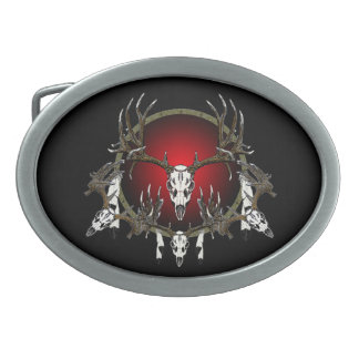 Der skulls belt buckle