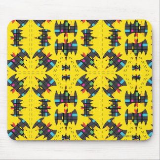 Der Stijl Bat Symbol Pattern Mouse Pad