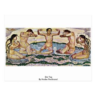 Der Tag By Hodler Ferdinand Postcard