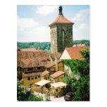 Der Tauber, Alemania del ob de Rothenburg Postal