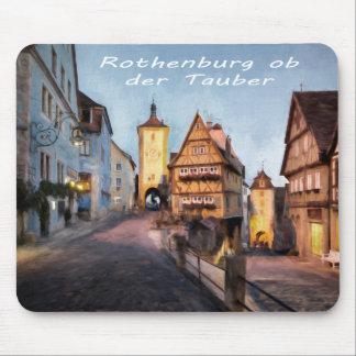 Der Tauber del ob de Rothenburg Alfombrillas De Ratón