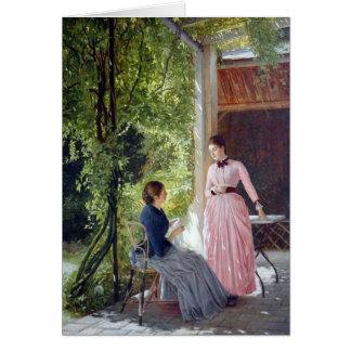 Der Terrasse - tarjeta del Auf del arte