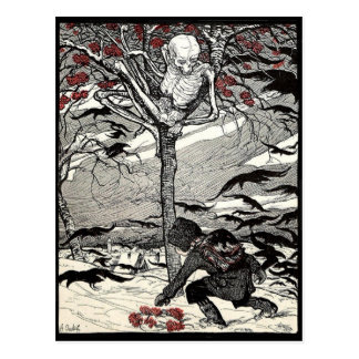 Der Tod im Baum postcard