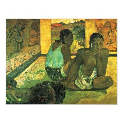 Der Traum (Te Rerioa) By Gauguin Paul 4.25x5.5 Paper Invitation Card