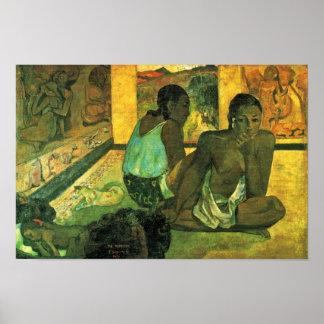 Der Traum (Te Rerioa) por Gauguin Paul Poster