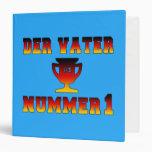 Der Vater Nummer 1 #1 Dad in German Father's Day Binders