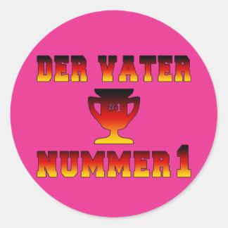 Der Vater Nummer 1 #1 Dad in German Father's Day Classic Round Sticker