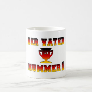 Der Vater Nummer 1 #1 Dad in German Father's Day Classic White Coffee Mug