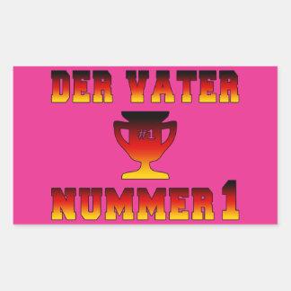 Der Vater Nummer 1 #1 Dad in German Father's Day Rectangular Sticker